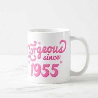 Desde 1955 regalo de cumpleaños magnífico para tazas de café