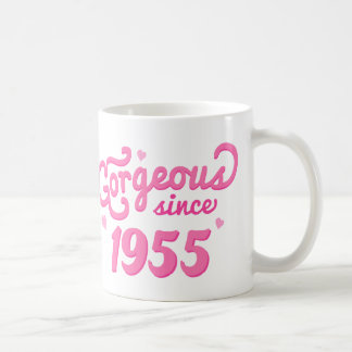 Desde 1955 regalo de cumpleaños magnífico para taza clásica