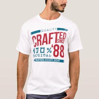 Desde 1988 cumpleaños hecho a mano, camiseta del