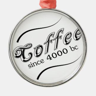 Desde 4000 A.C. Adorno Navideño Redondo De Metal