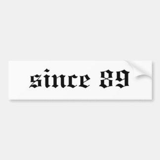 desde 89 etiqueta de parachoque
