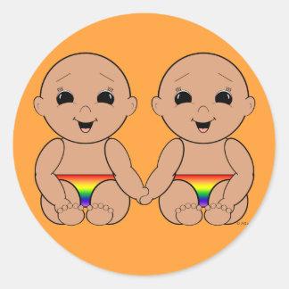 Desde el nacimiento 6r etiquetas redondas