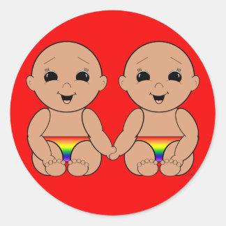 Desde el nacimiento 6r etiqueta redonda