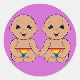 Desde el nacimiento 6r pegatinas redondas