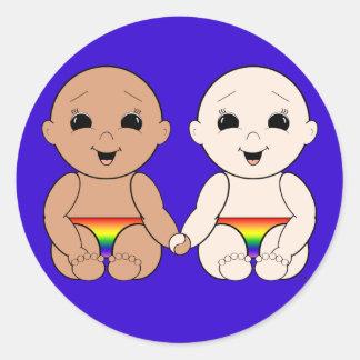 Desde el nacimiento 8r pegatinas redondas