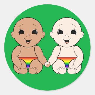 Desde el nacimiento 8r etiqueta redonda