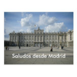 Desde Madrid de Saludos Tarjeta Postal
