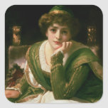 Desdemona Pegatina Cuadrada