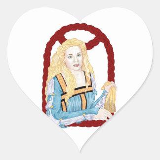 Desdemona Pegatina En Forma De Corazón