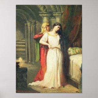 Desdemona que se retira a su cama, 1849 póster