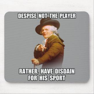 Desdén del jugador de José Ducreux Mousepads