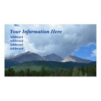 Desea la montaña máxima, rocosa nacional. Tarjeta  Tarjetas De Visita