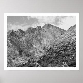 Desea la montaña rocosa rugosa hermosa máxima póster