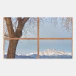 Desea la ventana de imagen de madera winter del gr pegatinas
