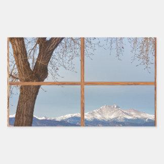 Desea la ventana de imagen de madera winter del rectangular altavoz
