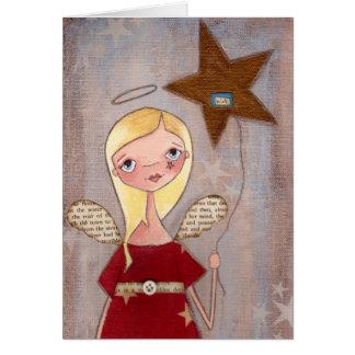Deseando la estrella - tarjeta de felicitación