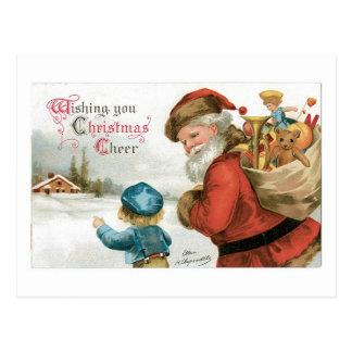 Deseándole alegría del navidad postal
