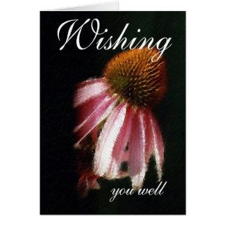 Deseándole bien tarjeta de felicitación