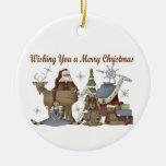 Deseándole Felices Navidad Ornamento Para Reyes Magos