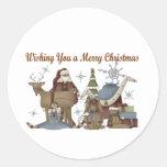 Deseándole Felices Navidad Etiqueta Redonda