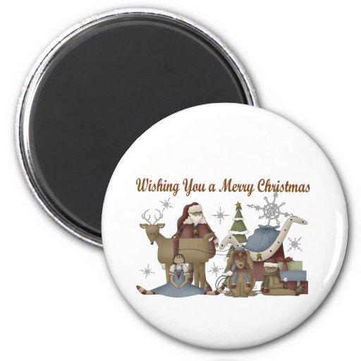 Deseándole Felices Navidad Imán Para Frigorifico