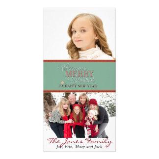 Deseándole Felices Navidad y Feliz Año Nuevo Tarjetas Con Fotos Personalizadas