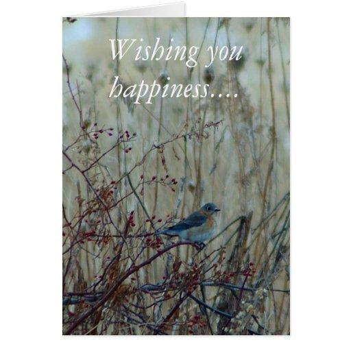 Deseándole felicidad…. tarjeta de felicitación