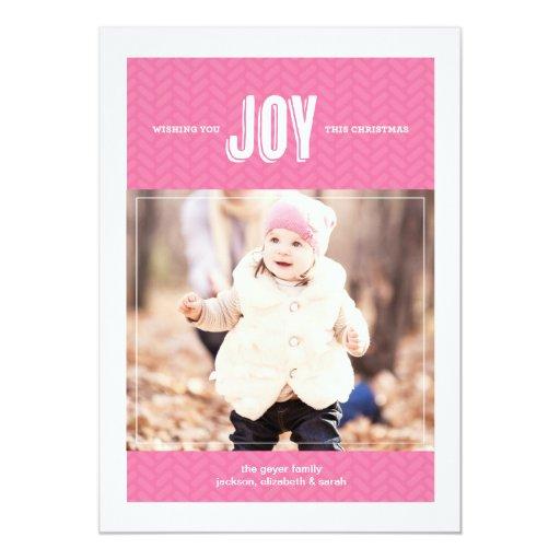 """Deseándole la alegría - tarjeta de felicitación de invitación 5"""" x 7"""""""