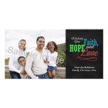 Deseándole la fe, la esperanza y el amor tarjetas fotograficas