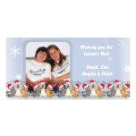 Deseándole la mejor tarjeta de la foto del copo de tarjeta con foto personalizada