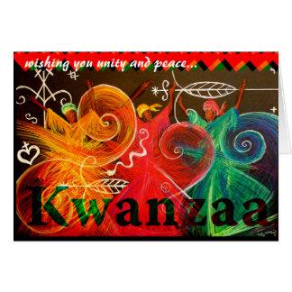 deseándole la unidad y la paz… Kwanzaa Tarjeta De Felicitación