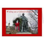 Deseándole navidad colonial tarjeta