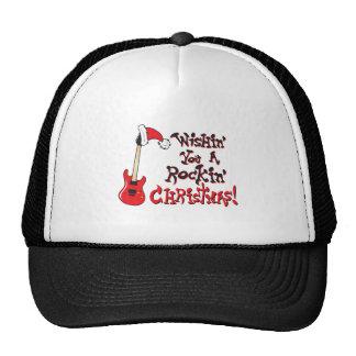 Deseándole navidad oscilante botones del bolso del gorra