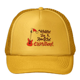 Deseándole navidad oscilante botones del bolso del gorras de camionero