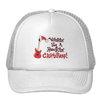 Deseándole navidad oscilante botones del bolso del gorras