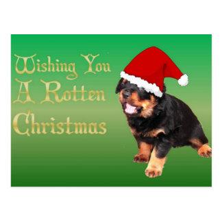 Deseándole navidad putrefacto postal