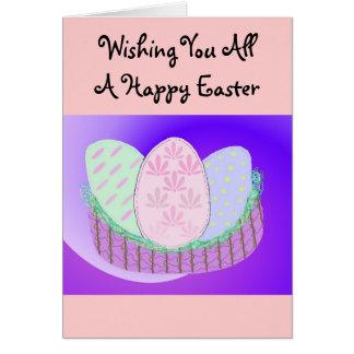 Deseándole todo el una Pascua feliz Felicitaciones