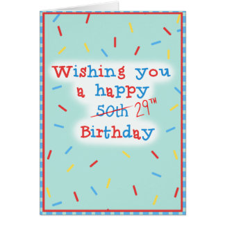Deseándole un 50.o feliz… 29no Cumpleaños Tarjeta De Felicitación