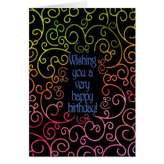 Deseándole un cumpleaños muy feliz tarjeta de felicitación