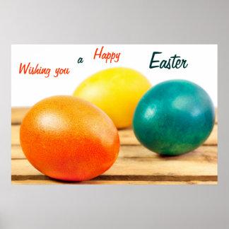 Deseándole un poster feliz de Pascua