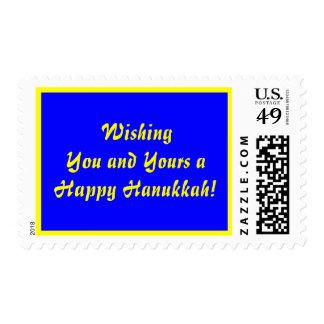 Deseándole un sello feliz de Hanukah