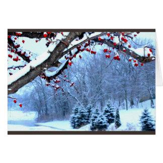 Deseándole una estación hermosa del navidad tarjeta de felicitación