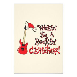 Deseándole una invitación oscilante de la guitarra