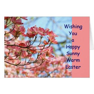 ¡Deseándole una Pascua caliente soleada feliz! tar Tarjetas