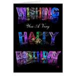 Deseándole una tarjeta del feliz cumpleaños