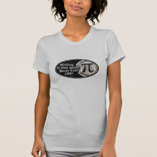 Desear día del pi nunca terminaría camisetas