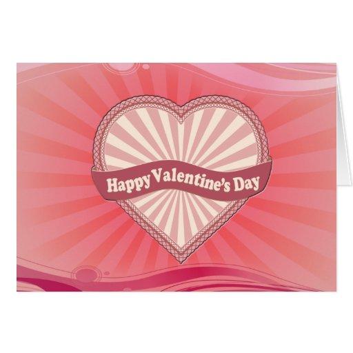 desear el día de San Valentín Tarjeta De Felicitación