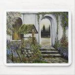Desear el ~Oil bien Painitng del jardín Tapete De Ratón
