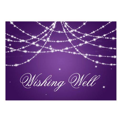 Desear púrpura bien chispeante de la secuencia plantillas de tarjetas de visita