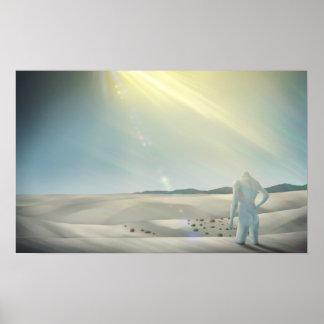 Desecado - impresión surrealista del poster 24x15